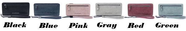 Retro Girl's Square Wallet PU Love Freedom Letters Zipper Purse Cellphone Clutch Bag