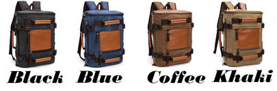 Leisure Large Capacity School Bag Cylindrical Splicing Bucket Travel Canvas Backpack