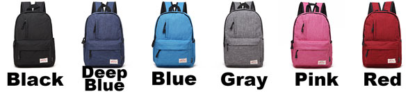 Simple Frosty Brushed Texture Whole Colored School Backpack Small Pocket Decorative Oxford Student Backpack