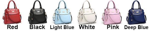 Fashion PU Shell Shape Zipper Colorful Women Handbag Leisure Shoulder Bag