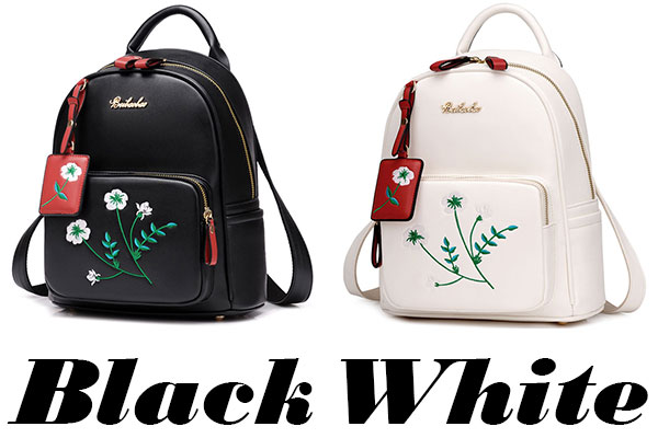 08d56af6fdd3 Unique Girl's Flowers Embroidery PU School Backpack only $35.99 -ByGoods.com