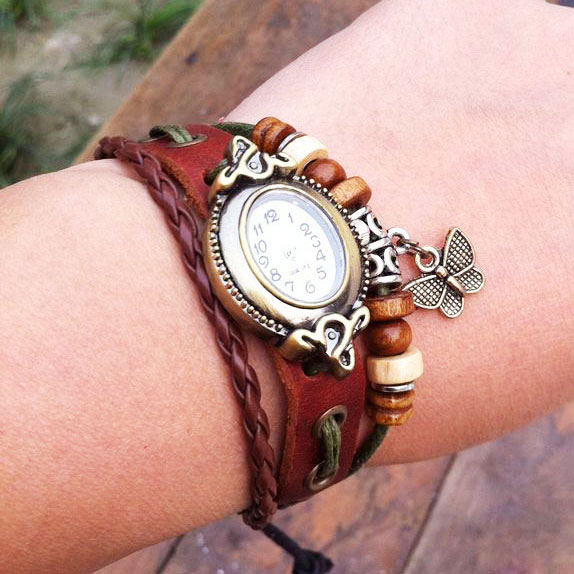 Cute Butterfly Rope Bracelet Watch