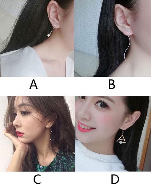 Unique Pearl Long Tassels Drop Dangle Geometry Party Linear Earrings