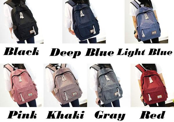 Simple Girl's Waterproof Oxford Cloth Leisure Large School Backpack Travel Backpack