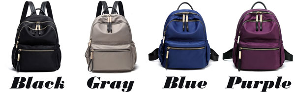 Fashion Simple Pure Color Waterproof Oxford School Bag Student Backpack