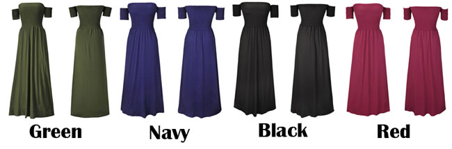 Sexy Backless Shoulder Party Dresses Pure Color Long Club Summer Women Dress