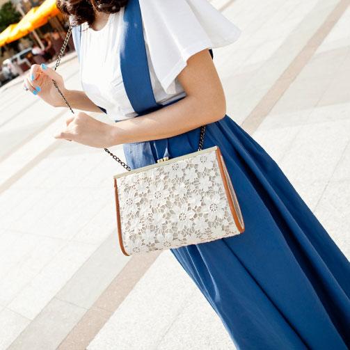 Latest Fashion Elegant Lace Handbag & Shoulder Bag