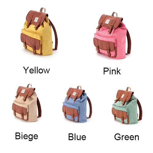 fashion Cute Dot Print Cover Leisure Backpack