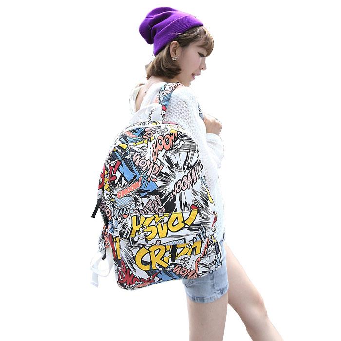 Harajuku Fashion Graffiti Cartoon Backpack