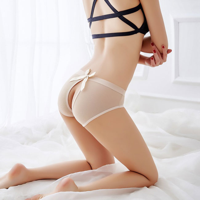 Sexy Hollow-Out Underwear Panties Lace Bow-knot Lingerie