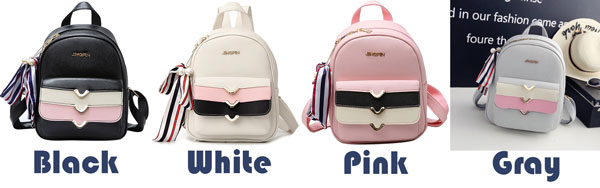 Lovely PU Colorful Stripes Flap Decorative Backpack Street Style Small School Backpack