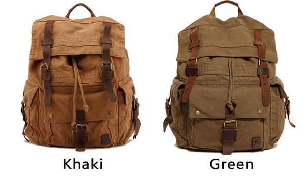 Vintage Men's Large Travel Backpack Hiking Outdoor Rucksack Thick Canvas Schoolbag Backpack
