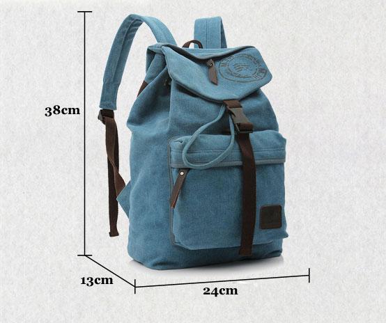 Leisure Vintage Canvas Shoulder Bag/Backpack/Schoolbag
