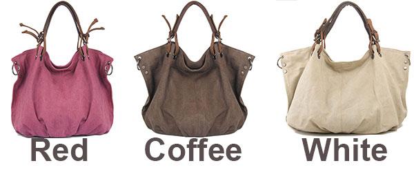 Retro Large Capacity Corrugated Travel Canvas Shoulder Bag Handbag