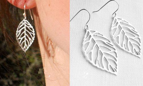 Graceful Leaves Plant Pattern Ear Drops