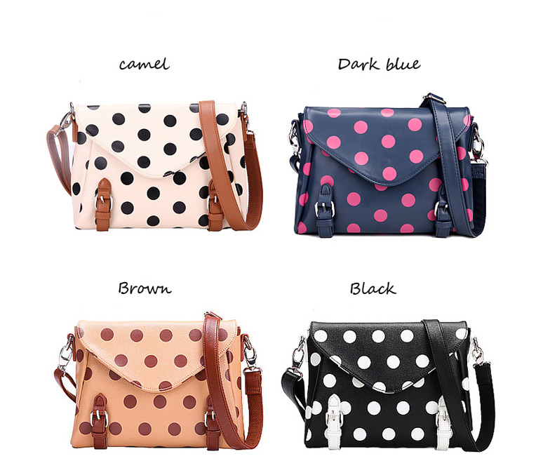 Retro cute Polka Dot Messenger Bag shoulder bag | Shoulder Bags ...