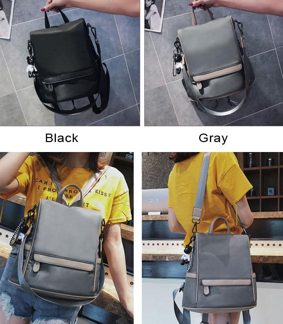 Fresh Multi-function Oxford Shoulder Bag Student Large Waterproof School Backpack