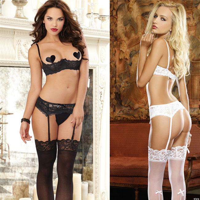Sexy Lace Open Chest Bra Set Underwear Intimate Women Lingerie