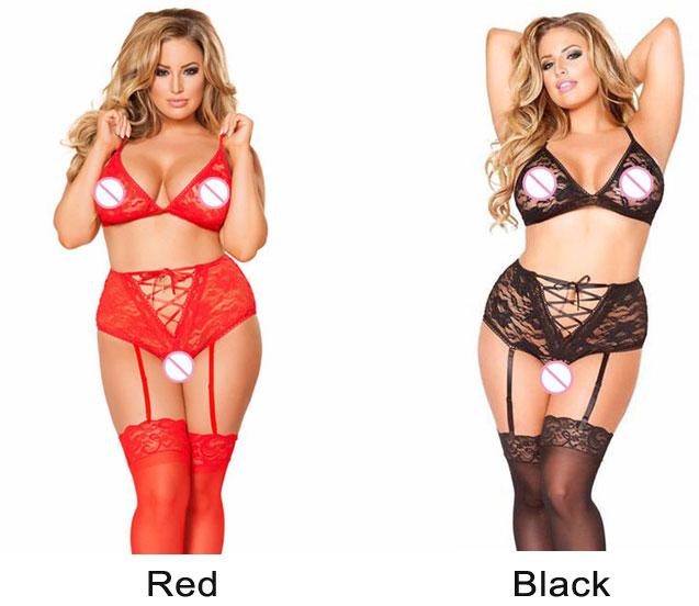 Sexy Lace Bra Set Bundle High Waist Underwear Women Sling Intimate Lingerie