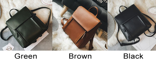 Retro Elegant Large Multi-function Shoulder Bag Student Bag School Backpack