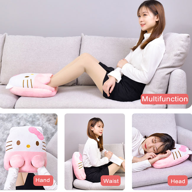 Cute Pillow USB Office Winter Warming Monkey Cat Kitty Pig Cartoon Animal Hand Foot Warming