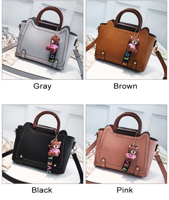 Elegant Large New Bear Decor Women Handbag Shoulder Bag