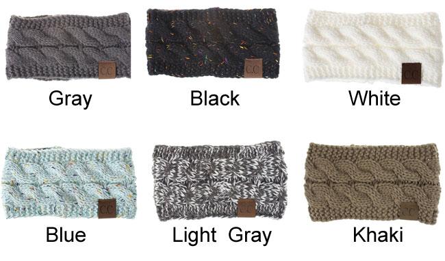 Fashion Motley Twist Soft Thick Wool Hairband Knit Warm Winter Women Hairbands