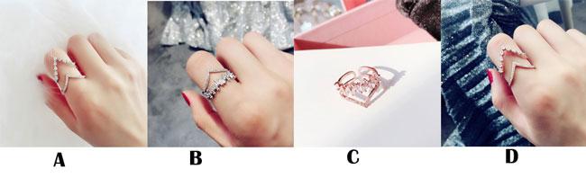 Shining Cute Exaggeration Full Diamond Adjustable Open Ring