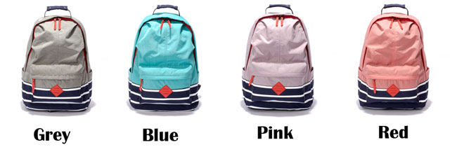 Fresh Candy Color College Nylon Travel Bag Striped School Large Backpack