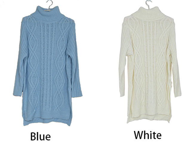 Fashion Women's Pure Color O Neck Long Sleeve Sweater