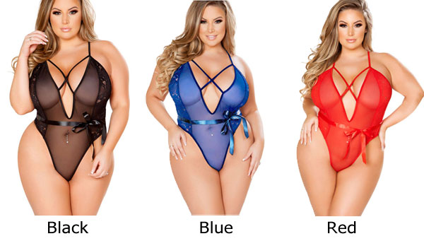 Sexy Cross Perspective Big Pajamas Women Large Size  Sling Intimate Lingerie