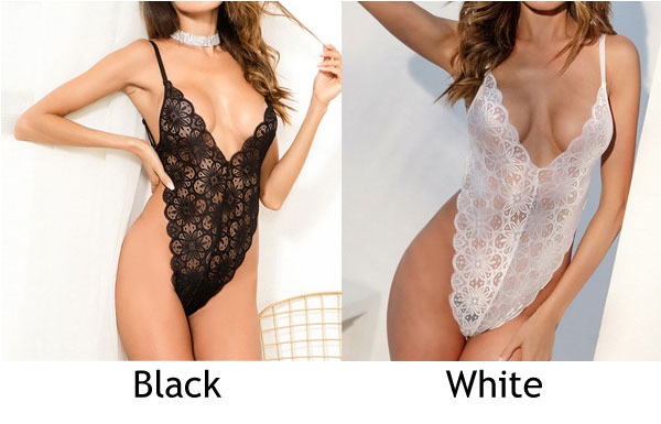 Sexy Mesh Passion Temptation Conjoined Lace Flower Sling Women Intimate Lingerie