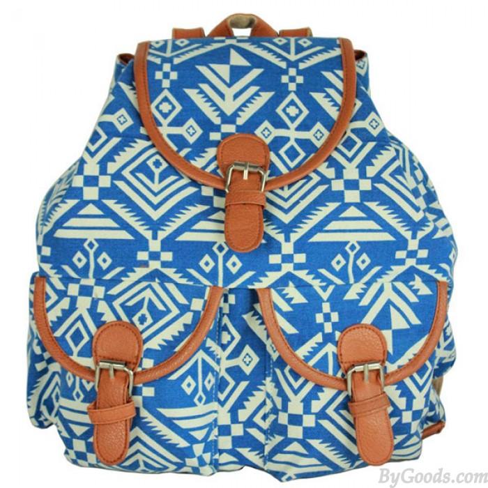 Retro Geometry Animal Prints Folk Backpack