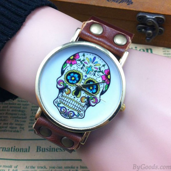 Unique Skull Printing Retro Punk Watch