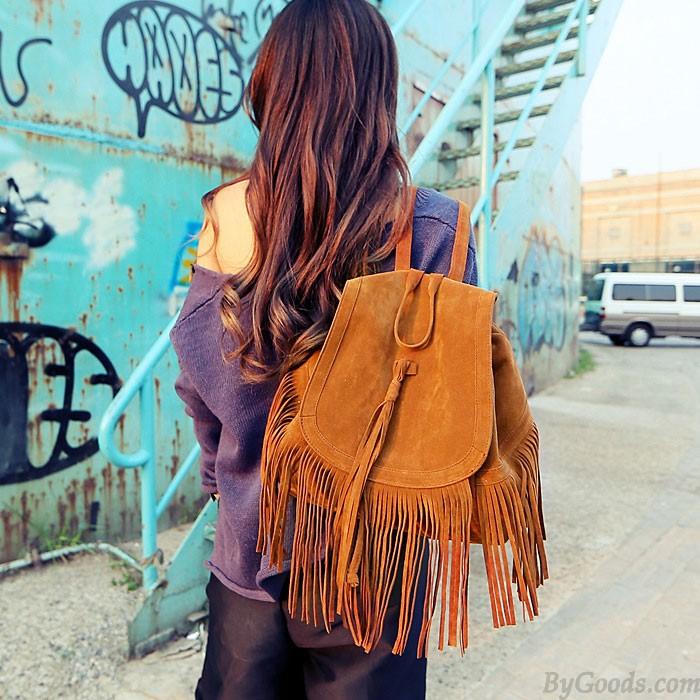 Fashion Celebrity Tassel Backpack&Travel bag
