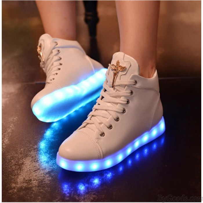 LED Charging Light High-top Shoes Casual Sneakers Shoes