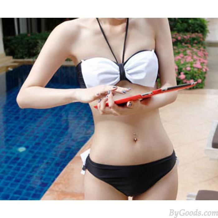 Sweet Black And White Split Bikini & Swimsuit