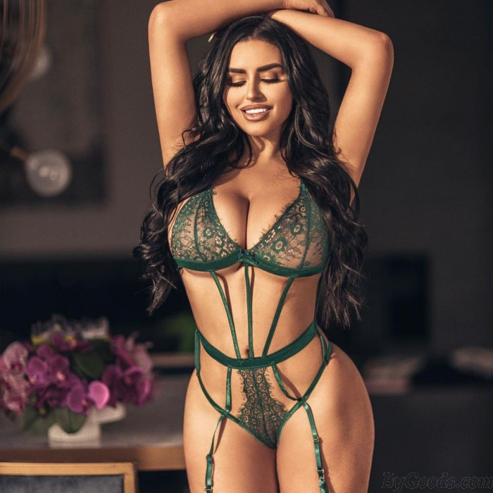 Sexy Strappy Corset Backless Teddy With Blindfold Garter Belts Bodysuit Eye Mask Women's Lingerie