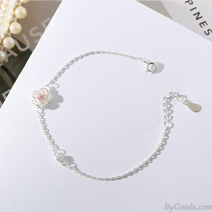 Fresh Girlfriends Gift Accessories Women Bracelet Flowers Personality Cherry Bracelet