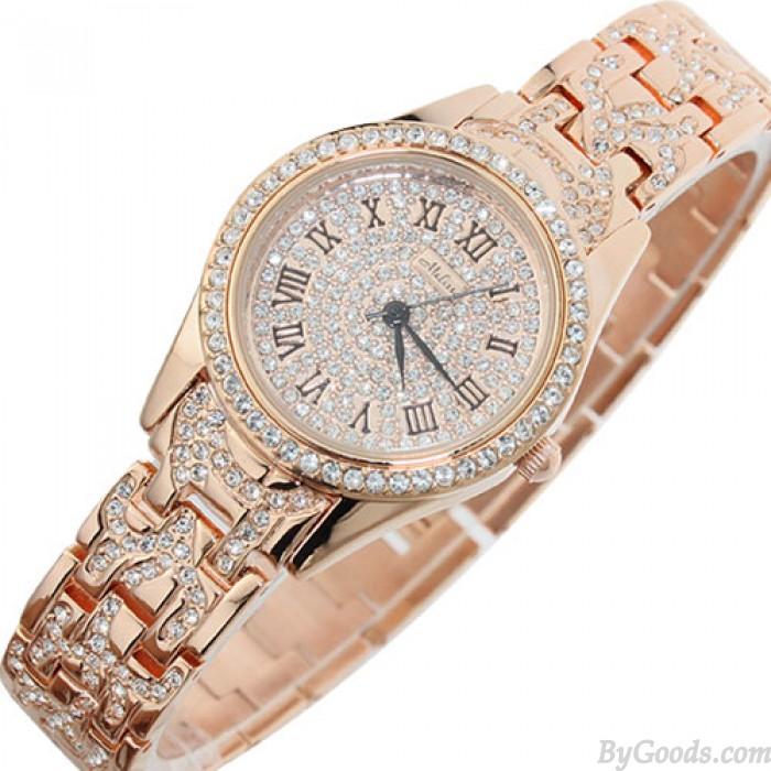 High-end Luxury Bling Rhinestone Quartz Watch