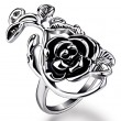 Retro Personality Rose Hollow Flower Ring
