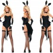 Sexy Bunny Seduction Cosplay Costume Conjoined Lingerie Halloween Costume Lingerie