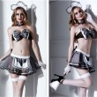 Sexy Classical Bow Lace Maid Clothes Maid Cosplay Uniform Temptation Short Skirt Girls Lingerie