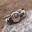 Original Retro Bead Leather Bracelet Watch