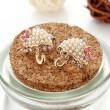 Super Cute Umbrella Pearls Bowknot Stud Earrings