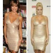 Nice Gold Deep V Sleeveless Lady Dresses