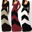 Fashion Sexy Geometric Color Long Dresses