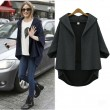 Nice Loose Irregular Cut Bat Sleeve Coat