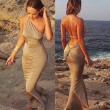Sexy Wrapped Backless Slim Dress /Beach Dress