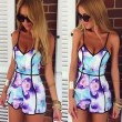 Sexy Fashion V-neck Printed Piece Romper&Jumpsuit